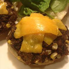 Homemade veggie burgers
