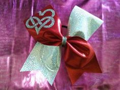 Infinity Heart Cheer Bow Valentine's Day by CheerBowsnMore on Etsy, $12.00