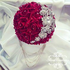 Wedding Brooch Bouquets, Bride Bouquets, Floral Bouquets, Purple Bouquets, Bridesmaid Bouquets, Peonies Bouquet, Pink Bouquet, Red Wedding, Wedding Colors