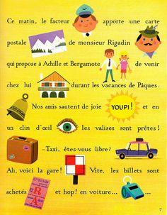 Alain Grée | illustration from vintage book | maptitefabrique | flickr #french #language #learning
