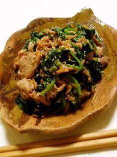 ヘルシー10分メニュー。疲労回復や風邪の予防に。小松菜でも作れます(手順7〜参照)。香ばしくて美味。