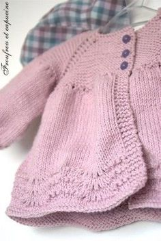 Lily cardigan pattern Frou Frou and nasturtium cotton Marshmallow Citronille