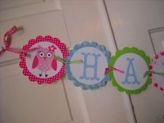 Custom Banner  Adorable Owl Theme by ALittleLollipopTree on Etsy, $25.00