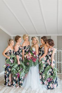 dc650850a242 Dark Botanical Floral Wedding at Florence Farm by Grace Studios
