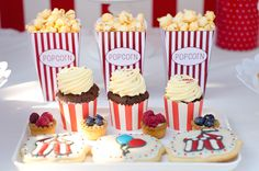 Circus party Circus Party, Mini Cupcakes, Desserts, Food, Tailgate Desserts, Deserts, Essen, Postres, Meals