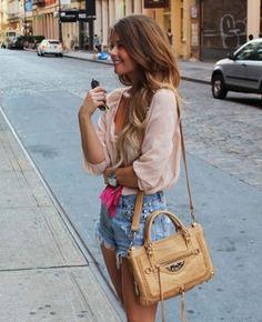 #fashion #stylish #summer #shorts #blouse