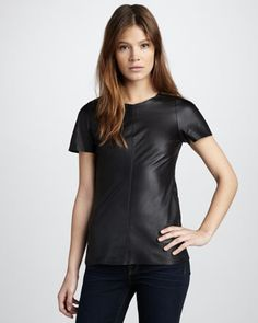 Leather Tee by Patterson J. Kincaid at Neiman Marcus.