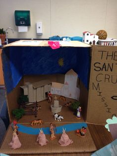 One of the choices for the California Mission Project is to make a diorama.