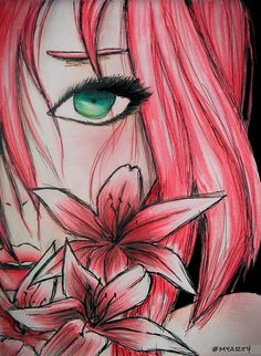 cherry blossom ^_^ #myart4 Sakura And Sasuke, Sakura Haruno, Pink Blossom, Cherry Blossom, Art Poses, I Love Anime, Profile Photo, Anime Naruto, Kawaii