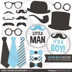 Little man photo booth props DIY Gentleman photo props