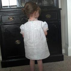 Back of 60's vintage style Easter dress