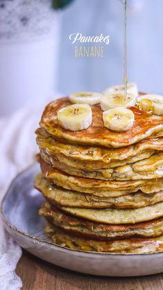 pancake healthy Pancakes healthy la banane, sans s - pancake Healthy Breakfast Recipes, Pancake Healthy, Snack Recipes, Pancake Recipes, Dessert Healthy, Greek Yogurt Pancakes, Banana Pancakes, Sugar Free Recipes, Sweet Recipes