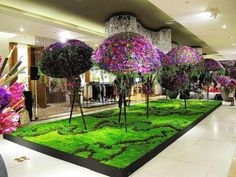 Flower Installation by Daniel Ost for the Central Floral Extravaganza in Central Chidlom Department Store Flower Show, Flower Art, Daniel Ost, Flora Design, Flower Installation, Floral Arrangements, Flower Arrangement, Public Display, New Year Holidays