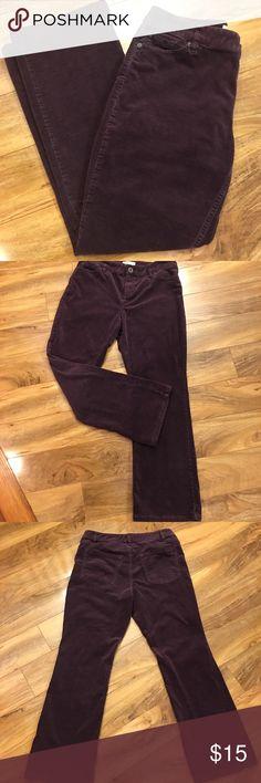 Coldwater Creek corduroy pants size 10P Coldwater Creek pants Size 10P Dark plum Cotton/spandex Coldwater Creek Pants Straight Leg