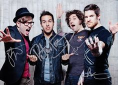FALL OUT BOY Save Rock and Roll FULLY SIGNED Autographed PHOTO ...