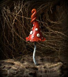 Amanite blanc rouge magique polymère argile toadstool par Petradi