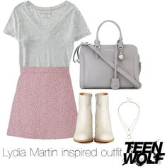 Lydia Martin inspired outfit/TW by tvdsarahmichele on Polyvore featuring Aéropostale, Gucci, MM6 Maison Margiela, Alexander McQueen, Sole Society, women's clothing, women's fashion, women, female and woman