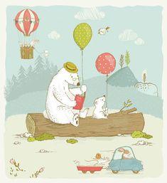 Matthias Hauser - Whimsical Art for Kids Wall Art Art Wall Kids, Art For Kids, Wall Art, Canvas Prints, Art Prints, Cute Bears, Whimsical Art, Painting For Kids, Prints For Sale