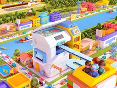 Miniature city(WIP) designed by Ryogo Toyoda. Connect with them on Dribbble; the global community for designers and creative professionals. Game Ui Design, 3d Design, Isometric Cube, Wallpaper Collection, 3d Artwork, Island Design, Environment Concept Art, Game Assets, Motion Design