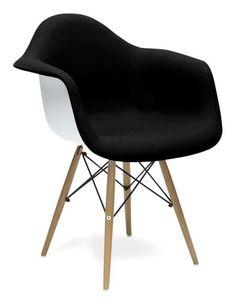 Krzesło DAW EPC VITRA King Bath Eames czarno-białe SO-KDC-311P.D. - do kupienia: www.superwnetrze.pl