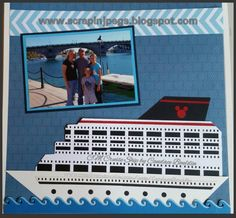 Cruisin'! So, so cute! Candace B has done it again! She created this fun cruise ship using our Border Maker System with Filmstrip Cartridge, plus the Wave cartridge from the previous CM company. So cute! #CreativeMemories www.creativememories.com
