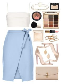 """""""Carvela Gatsby"""" by sophiehackett ❤ liked on Polyvore featuring Witchery, New Look, Jouer, Kendra Scott, ASOS, Carvela, Stila, Isadora, Bobbi Brown Cosmetics and H&M"""