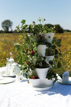 Met de stapelbare plantenbakken van Elho maak je een toren van bloemen #garden #flowers