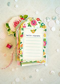 Love the patterned backgrounds and flower accessories