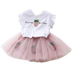 8769524de0 feiXIANG Sommer - Kinder Kleider Mädchen Blume T-Shirt Garn Rock mädchen  modegedruckten Hemd Kleid Kleidung setzen Hemdkleid Baby Tutu Kleid  #mädchennamen ...