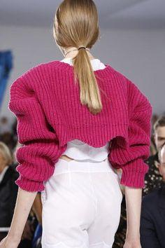 Chunky pink knits and slick ponytails at Christian Dior Spring 2016