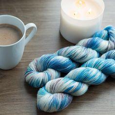 Winter Wonderland Holiday Limited Edition Hand Dyed Yarn sock yarn, fingering weight, 438 yards/100g 100% superwash merino by Rogues Yarn (affiliate link)