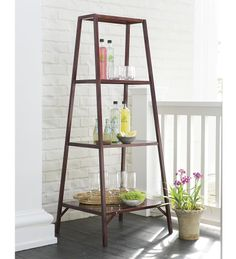 Add extra storage and display space to your home with our Indoor/Outdoor Aluminum Shelf/Stand. Outdoor Dining, Indoor Outdoor, Indoor Plants, Outdoor Ideas, Tiered Stand, Rental Decorating, Furniture Plans, Hearth, Ladder Decor