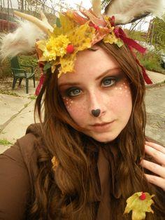 Deer makeup. A deer for halloween would be easyyyy