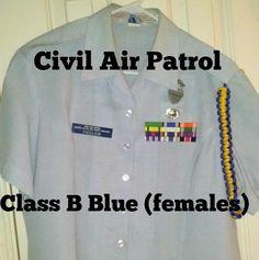 How to wear Blues for Females. Civil Air Patrol CLass B Civil Air Patrol, Class B, Civilization, Blues, Military, Cap, Female, Sweatshirts, Youtube
