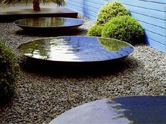 Water Bowl Corten (other sizes) - Garten - Japanese Garden Landscape, Japanese Garden Design, Water Features In The Garden, Garden Features, Landscape Plans, Landscape Design, China Garden, Backyard Water Feature, Garden Architecture