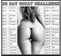 30 day Squat challenge. I'm currently involved in this. I wonder if my ass will look like this in 22 days...?