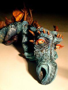 Shoulder-Perching Dragon Sculpture & Accessory