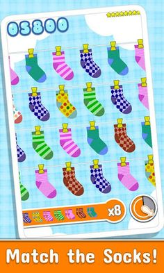 Socks. Yup a game about socks. Match 'em up. It's super cute, but simple fun.