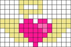Angel Heart Perler Bead Pattern / Bead Sprite
