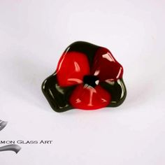 Pipacsos, pipacs-virag-uveg-gyuru-1 Glass Jewelry, Glass Ring, Cufflinks, Rings, Accessories, Ring, Jewelry Rings, Wedding Cufflinks, Jewelry Accessories