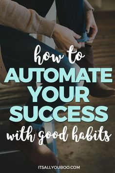 It's time to stop feeling overwhelmed by your goals, and create good habits to automate your success! Like all successful people, developing good habits and routines is key to achieving your goals and not burning out. Click to learn how to develop your own good habits today + get your FREE Slay Your Goals Guide with the 10 steps you need to make a habit of accomplishing your goals. Ps. Don't forget to pin it for later or share with friends