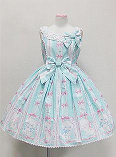 Angelic Pretty / Jumper Skirt / Whimsical Vanilla-chan Round JSK