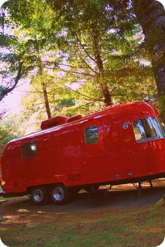 New Toy Bright Red AirStream! I love AirStreams and love the bright red - different but I love it. AirStream is my desired travel trailer.Love Is Love Is may refer to: Vintage Rv, Vintage Airstream, Vintage Caravans, Vintage Travel Trailers, Little Campers, Cool Campers, Retro Campers, Vintage Campers, Camper Caravan