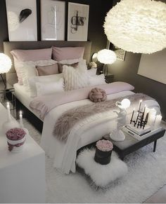 Choosing the best design for a woman's bedroom is both an easy and hard thing to do. Fortunately, there are a lot of bedroom ideas for women available here. bedroom ideas for women | bedroom ideas for women in their 20s | bedroom ideas for women on a budget | bedroom ideas for women colour schemes |bedroom ideas for women apartment | bedroom ideas for women cozy | bedroom ideas for women classy | bedroom ideas for women romantic | #small #women #bedroom #inspiration #apartment Stylish Bedroom, Gray Bedroom, Master Bedroom Design, Teen Bedroom, Bedroom Small, Master Suite, Bedroom Designs, Fancy Bedroom, Blush Bedroom