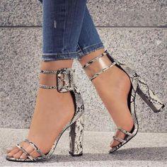 Kiley Ankle Strap Block Heel
