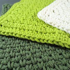 Green Queen Cotton Crochet Dishcloths Set of by PurpleKissCompany, $9.99