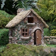 Miniature Stone House Elf Home Fairy Garden Accessory Dollhouse Decor Image 2 of 2 The post Miniature Stone House Elf Home Fairy Garden Accessory Dollhouse Decor Image 2 of& appeared first on Wedding. Herb Garden Design, Diy Garden Decor, Garden Art, Home And Garden, Fairy Garden Ornaments, Fairy Garden Houses, Diy Fairy House, Mini Fairy Garden, Fairy Doors