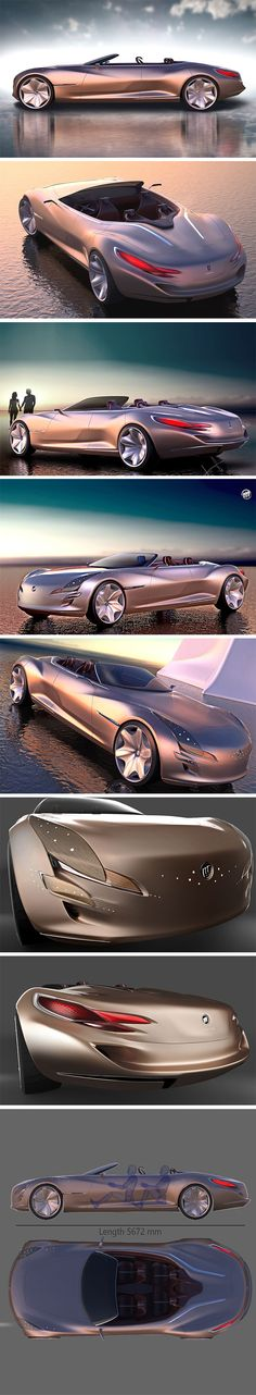 The Buick Evocador Concept is the best thing to happen to the brand since those witty Enclave commercials! Imagined as their ultra-luxury flagship electric vehicle for 2025, it's a far cry from the Buick many of us imagine our grandparents driving, though it does blend familiar and futuristic. The focal point of the design is it's stretched silhouette composed of a long hood contrasted by a short front overhang and a long rear overhang.