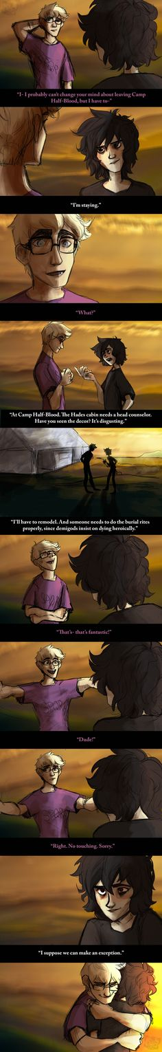 (Heroes of Olympus) Jason Grace and Nico di Angelo Percy Jackson Fan Art, Percy Jackson Memes, Percy Jackson Books, Percy Jackson Fandom, Solangelo, Percabeth, Jason Grace, Leo Valdez, Piper Mclean