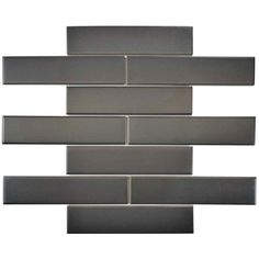 Merola Tile Metro Soho Subway Matte Grey 1-3/4 in. x 7-3/4 in. Porcelain Floor and Wall Tile (1 sq. ft. / pack)-FMTSHMG - The Home Depot